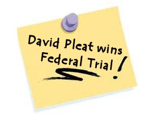 David Pleat wins federal trial for client