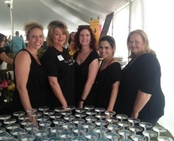 Pleat, Perry & Ritchie volunteers for Destin Wine Charity Auction