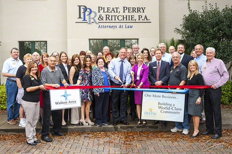Pleat, Perry & Ritchie Ribbon Cutting